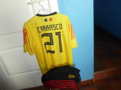 Belgie voetbalthirts en short Carrasco 8j tot xxl