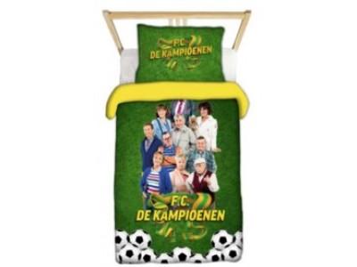 FC DE Kampioenen dekbedovertrek  140x200cm 1 pers 100% satijn polyester